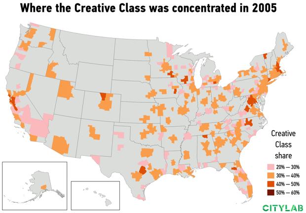 USA Creative Class 2005