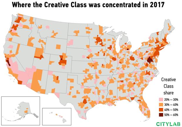 USA Creative Class 2017