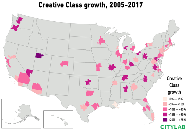 USA Creative Class Growth